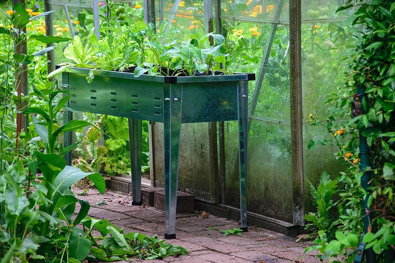 Dobar Rechteckiges Tischbeet Aus Verzinktem Stahl Robustes Garten