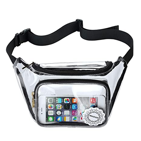c0908fff4df Amazon.com   NFL Clear Fanny Pack Stadium Security Approved Transparent Waist  Bag for Events, Games and Concerts   Waist Packs