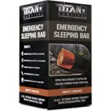 TITAN Extra-Thick Emergency Mylar Sleeping Bag   Designed for NASA Space Exploration and Heat Retention. Perfect for Survival Kits and Go-Bags. Includes Nylon Drawstring Bag and eBooks.