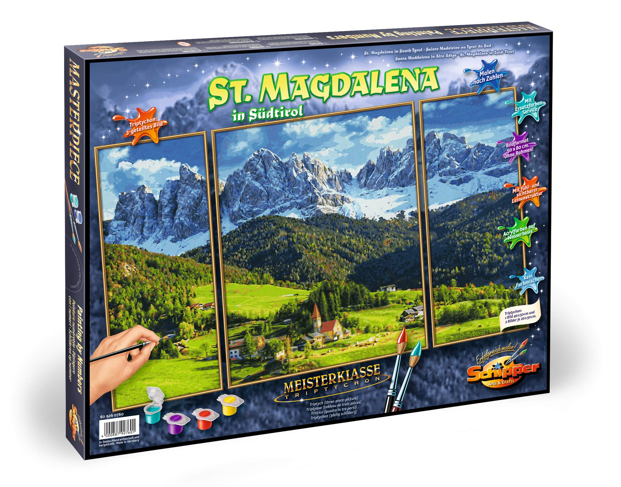 Schipper 609260760 Painting by Number -Panoramic Alpine St.Magdalena by Schipper