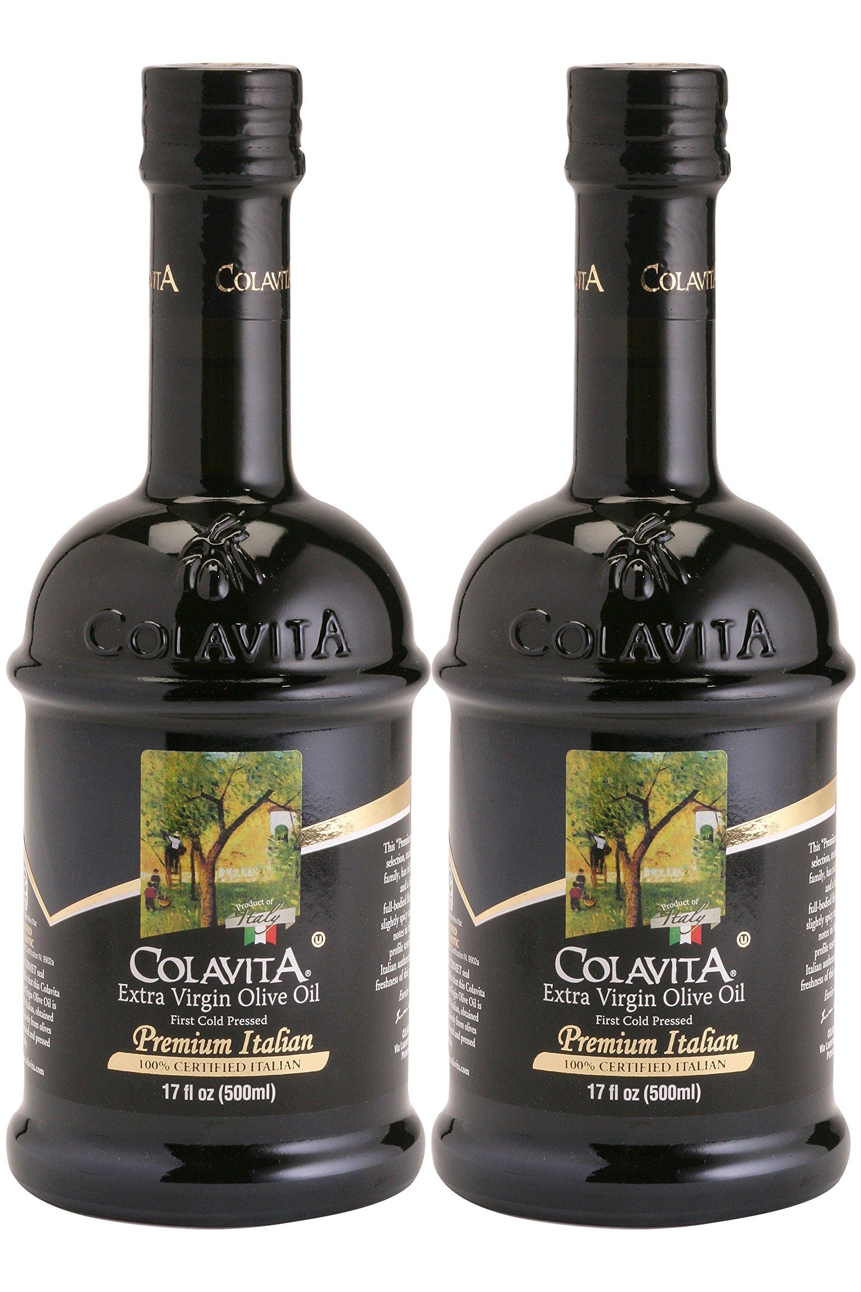 Colavita Premium Italian Extra Virgin Olive Oil, 17 Ounce (Pack of 2)