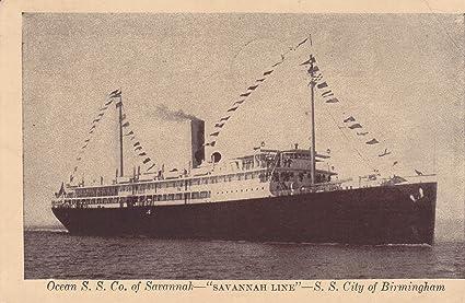Amazon Com 399vint03 A 1930 Vintage Postcard Ocean S S Co