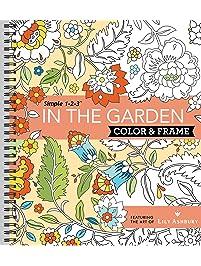 Color & Frame Coloring Book - In the Garden