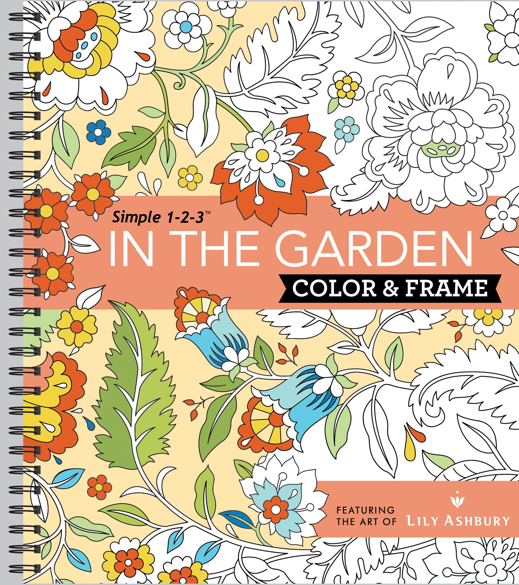 Color Frame Coloring Book Garden
