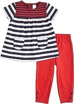 Carter's Baby Girls' Patriotic Striped Tunic & Leggings Set