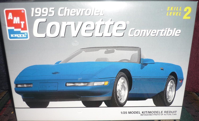 AMT ERTL 1:25 1995 Corvette Convertible Yellow Built Model #6654