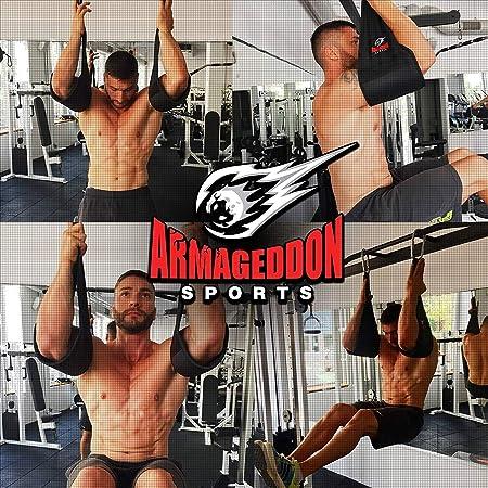 UK Warrior Universal Abdominal Slings Ab Slings Straps Chin Up Bar Gym Pair