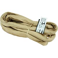 USA Made VR4 X 10' Tan Slings 4'-30' Lengths in Listing, Double PLY Cover Endless Round Poly Lifting Slings, 10,600 lbs Vertical, 8,500 lbs Choker, 21,200 lbs Basket (USA Poly) (10 FT)
