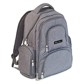 BACKPACK DIAPER BAG- Mama Mallard 16 Pocket Stylish Diaper Bag Set with Stroller Straps,