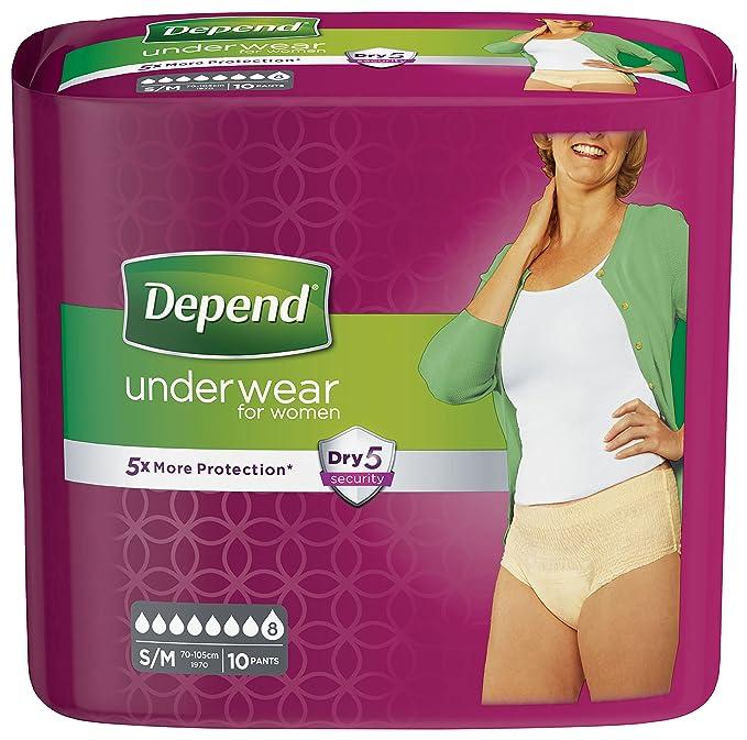 Depend Active Fit - Pañales para adultos para mujer, máxima absorción (embalaje puede variar) - tamaño mediano, 8 pantalones: Amazon.es: Salud y cuidado ...