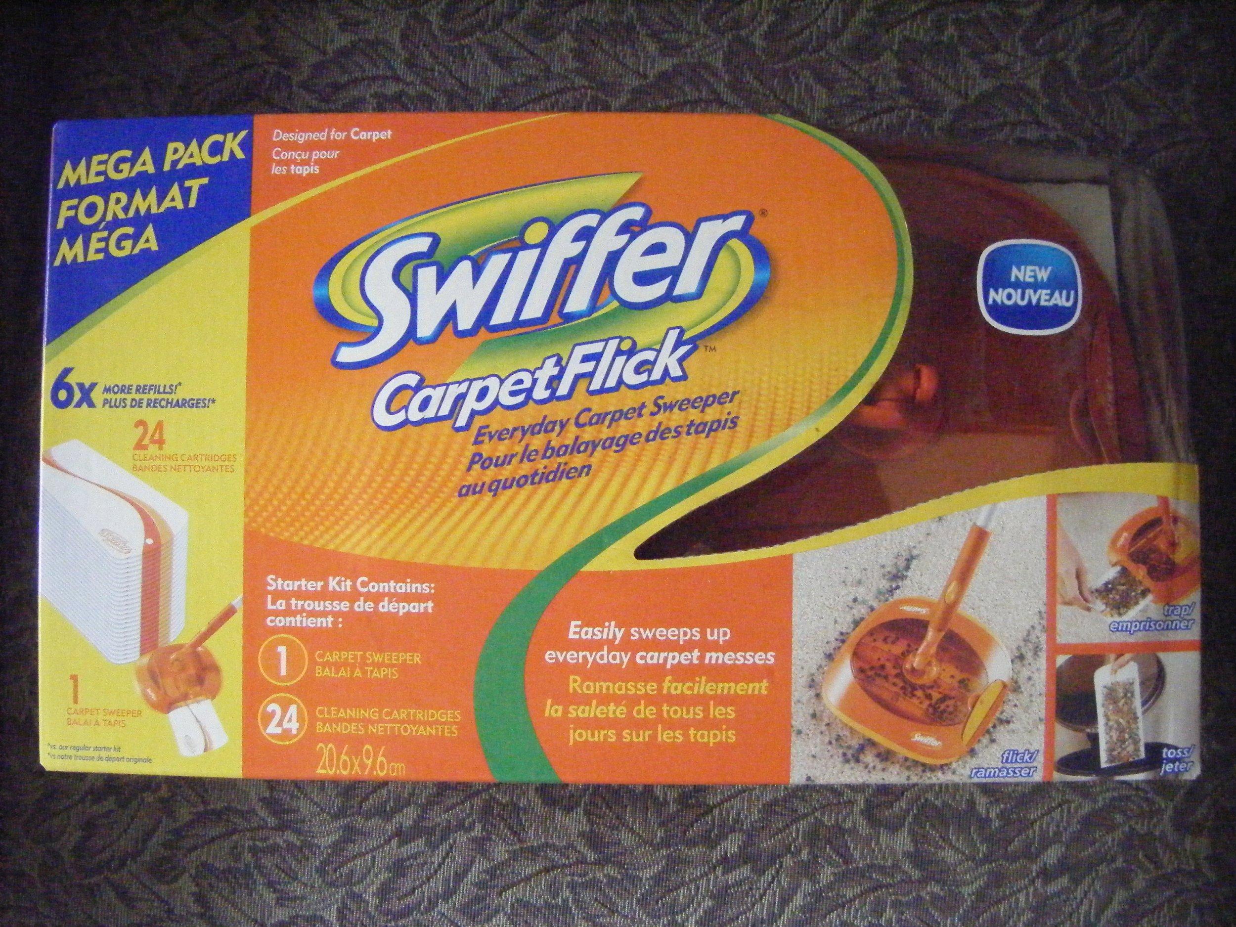 Swiffer Carpet Flick Starter Kit - 1 Carpet Sweeper - 24 Cleaning Cartridges by Swiffer