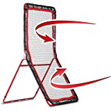 Rukket 4x7ft Lacrosse Rebounder Pitchback Training Screen | Practice Catching, Throwing, and Shooting