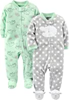 simple joys by baby 2pack fleece footed sleep and play