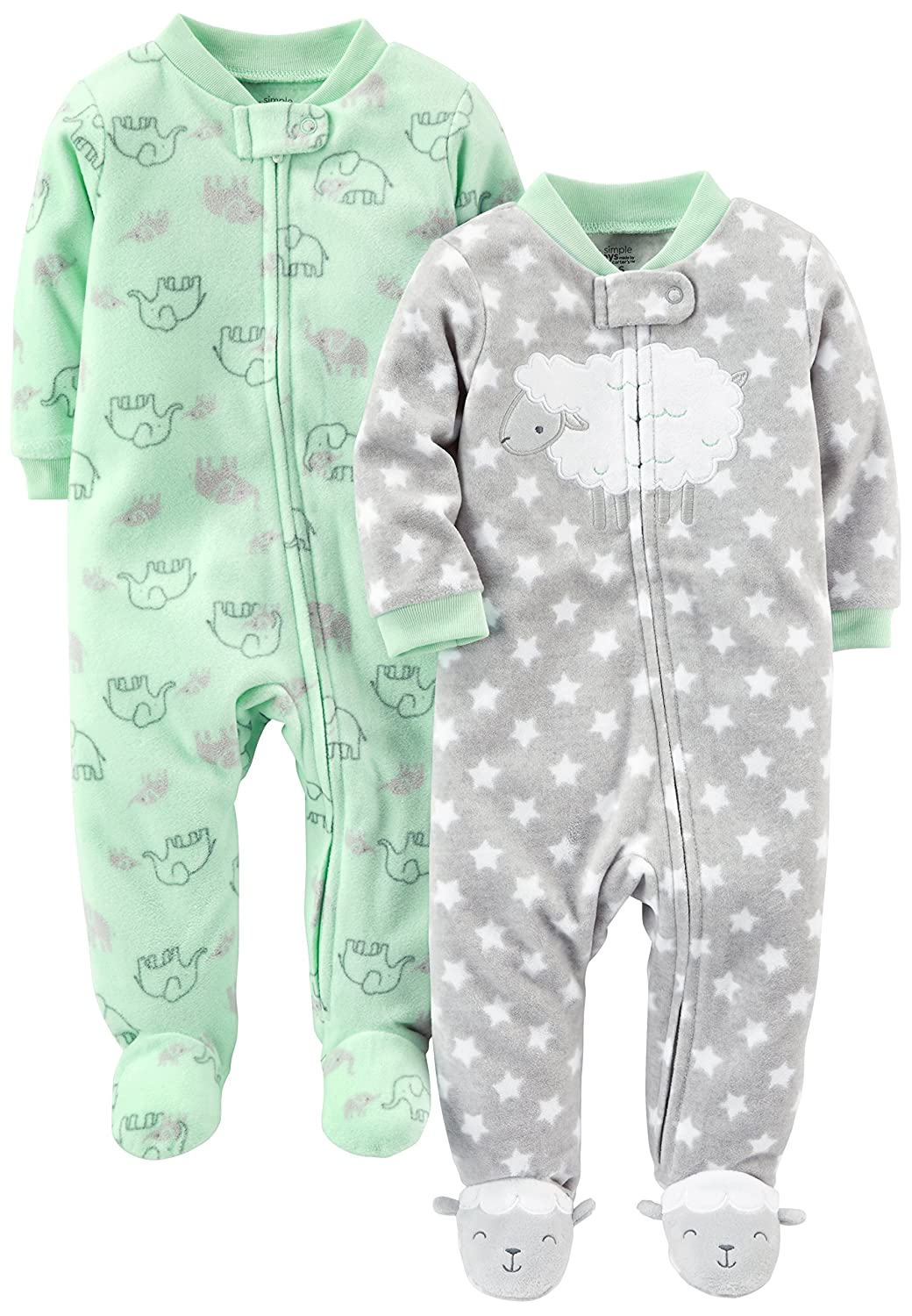 Simple Joys by Carter's Baby Infant 2-Pack Fleece Footed Sleep and Play Simple Joys by Carter' s 2PKSNPCT
