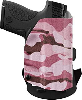 product image for We The People Holsters - Pink Camo - Outside Waistband Concealed Carry - OWB Kydex Holster - Adjustable Ride/Cant/Retention