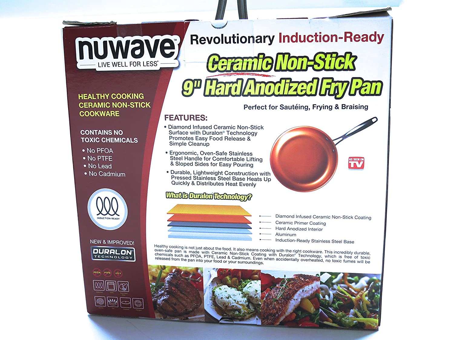 Amazon.com: NuWave 9 inch Ceramic Non-Stick Fry Pan | As Seen On ...
