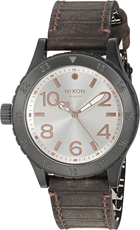 Nixon Women 's ' 38 – 20 ' QuartzレザーAutomatic Watch, Color : Brown (Model : a4672358 – 00 )