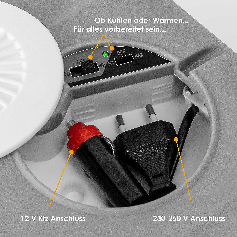 Kesser/® 40L K/ühlbox mit Rollen Thermo-Elektrische K/ühlbox 12 Volt und 230 Volt| Mini-K/ühlschrank zum Warmhalten und K/ühlen Thermobox f/ür Auto| Boot und Camping EEK A++ mit ECO Modus Rot