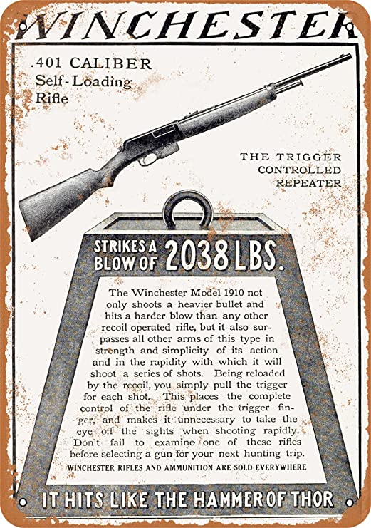 """1944 WWII WESTERN CARTRIDGE WINCHESTER RIFLE Ammunition Metal Sign 9x12/"""" A392"""