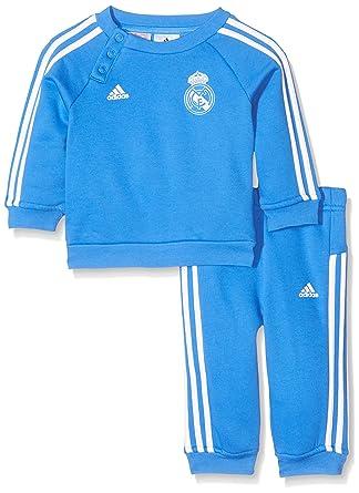 adidas Real 3S BBYJOGG Chándal, Infantil, Azul/Blanco, 86: Amazon ...