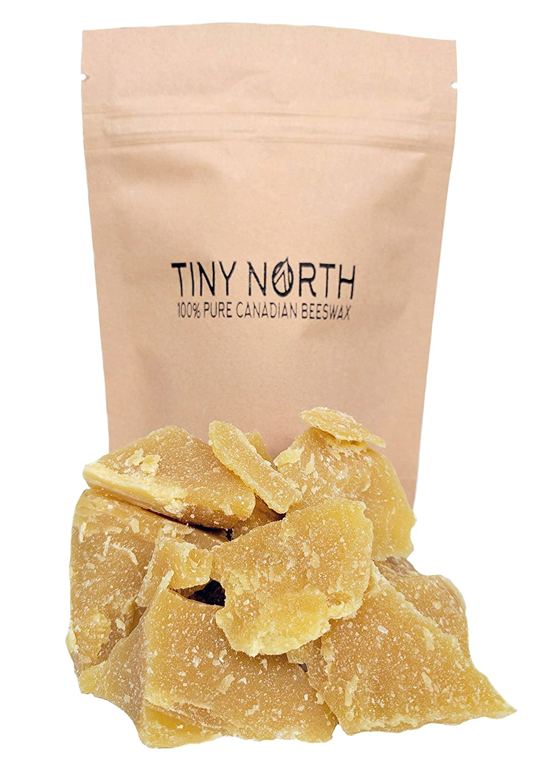 100% Pure Canadian Beeswax - Cosmetic Grade - Filtered to 1 Micron - All Natural Chunks - Yellow - 100 g (3.5 oz) Tiny North