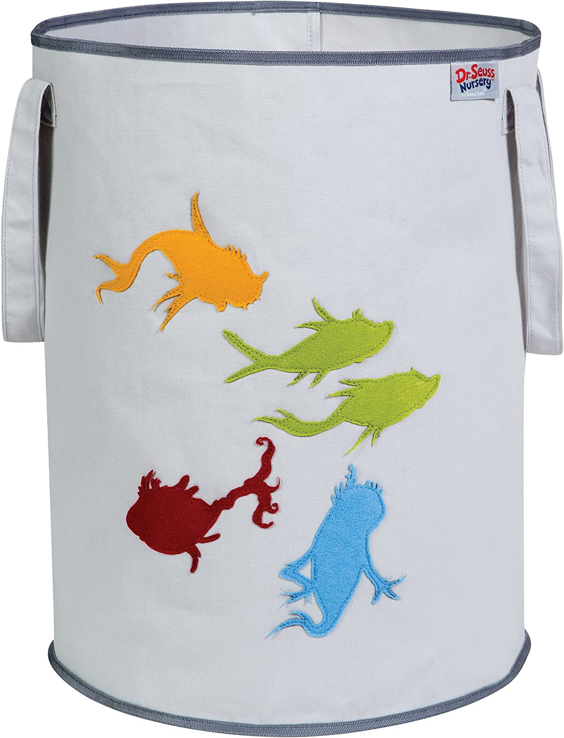 Trend Lab Dr. Seuss Fish Storage Tote, Yellow/Green/Red/Blue/Gray
