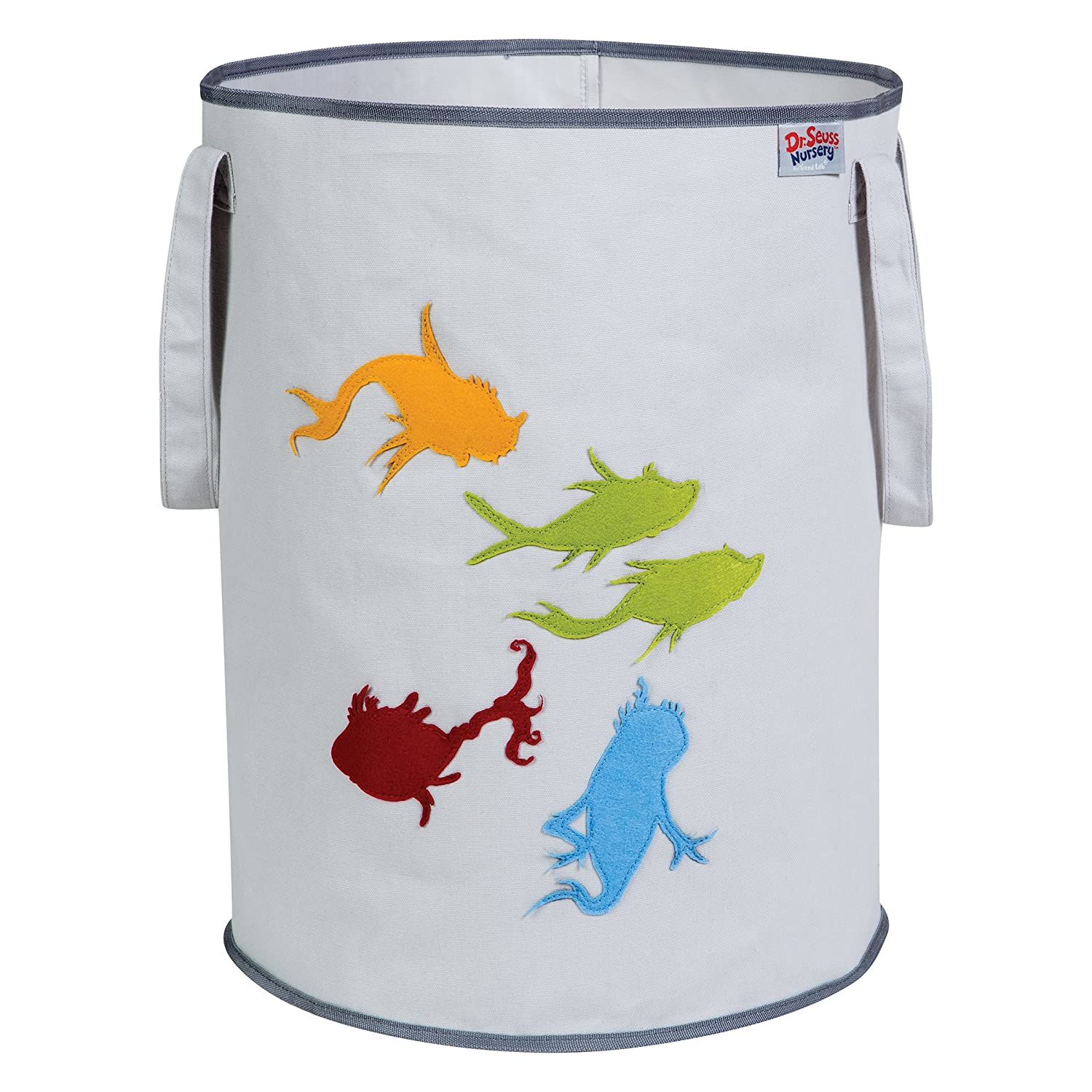 Trend Lab Dr. Seuss Fish Storage Tote, Yellow/Green/Red/Blue/Gray 30604