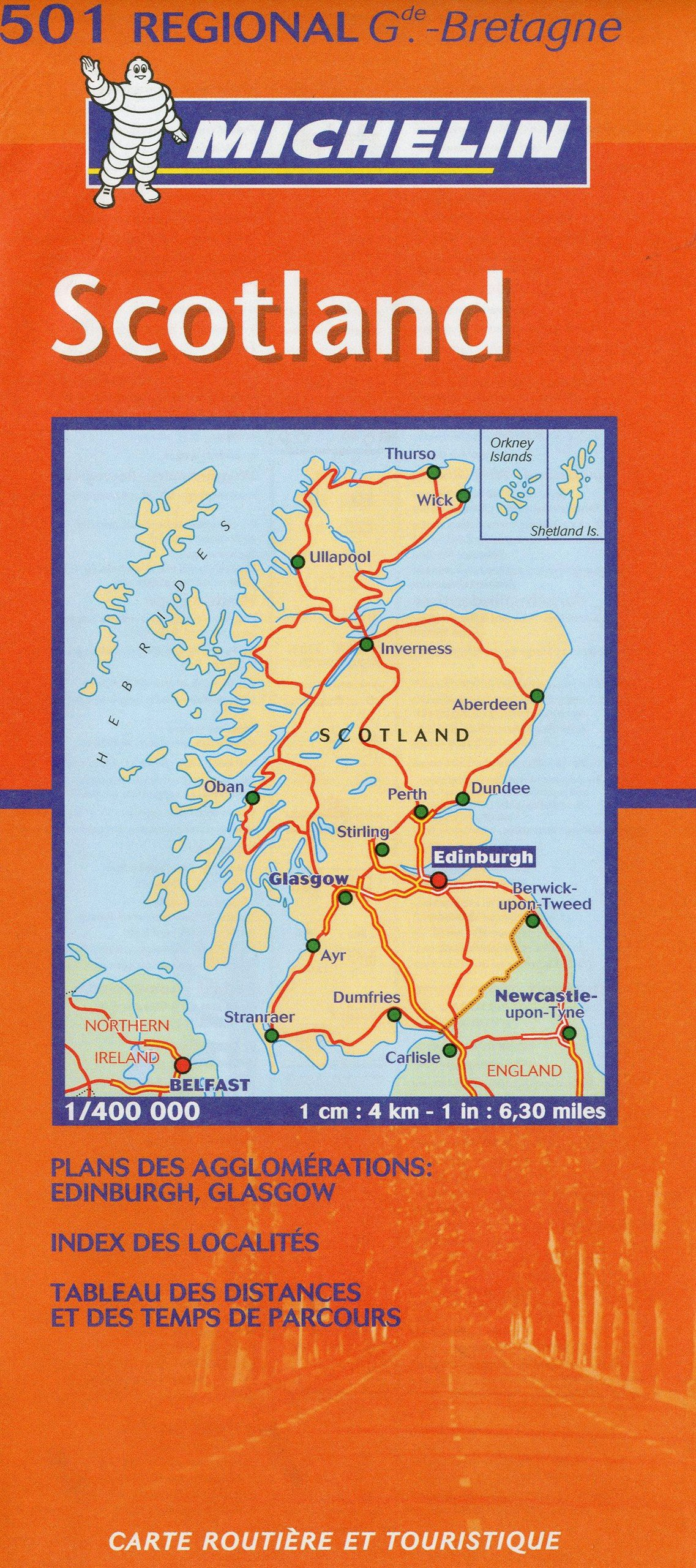 Map 501.Michelin Scotland Regional Map Michelin Maps Michelin