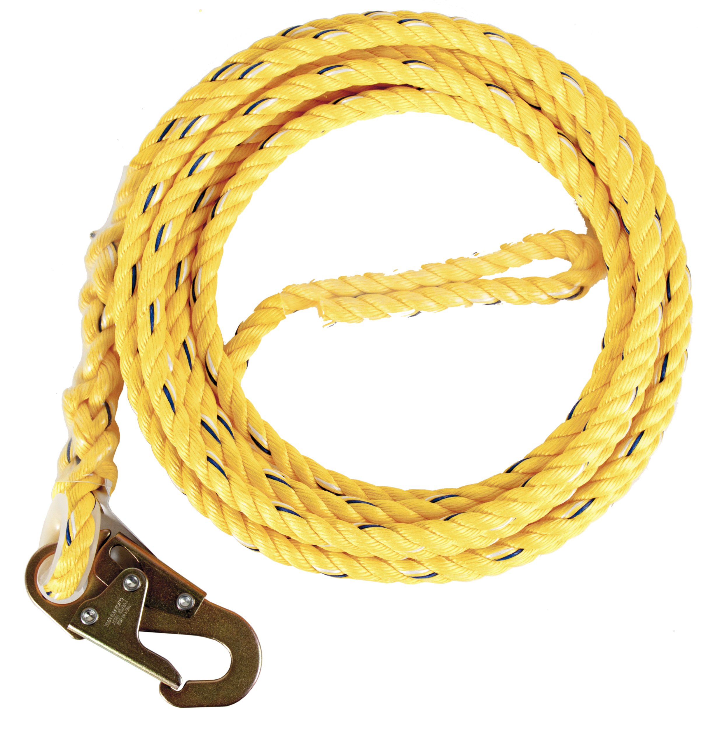 Guardian Fall Protection 01340 VL58-50 Standard 5/8 Inch Thick Rope with Snaphook End, 50-Foot by Guardian Fall Protection