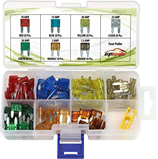 amazon com cal hawk capcfm assorted car truck mini fuse 5 7 5 10 120 pieces epauto assorted car truck mini blade fuse set 5 7 5
