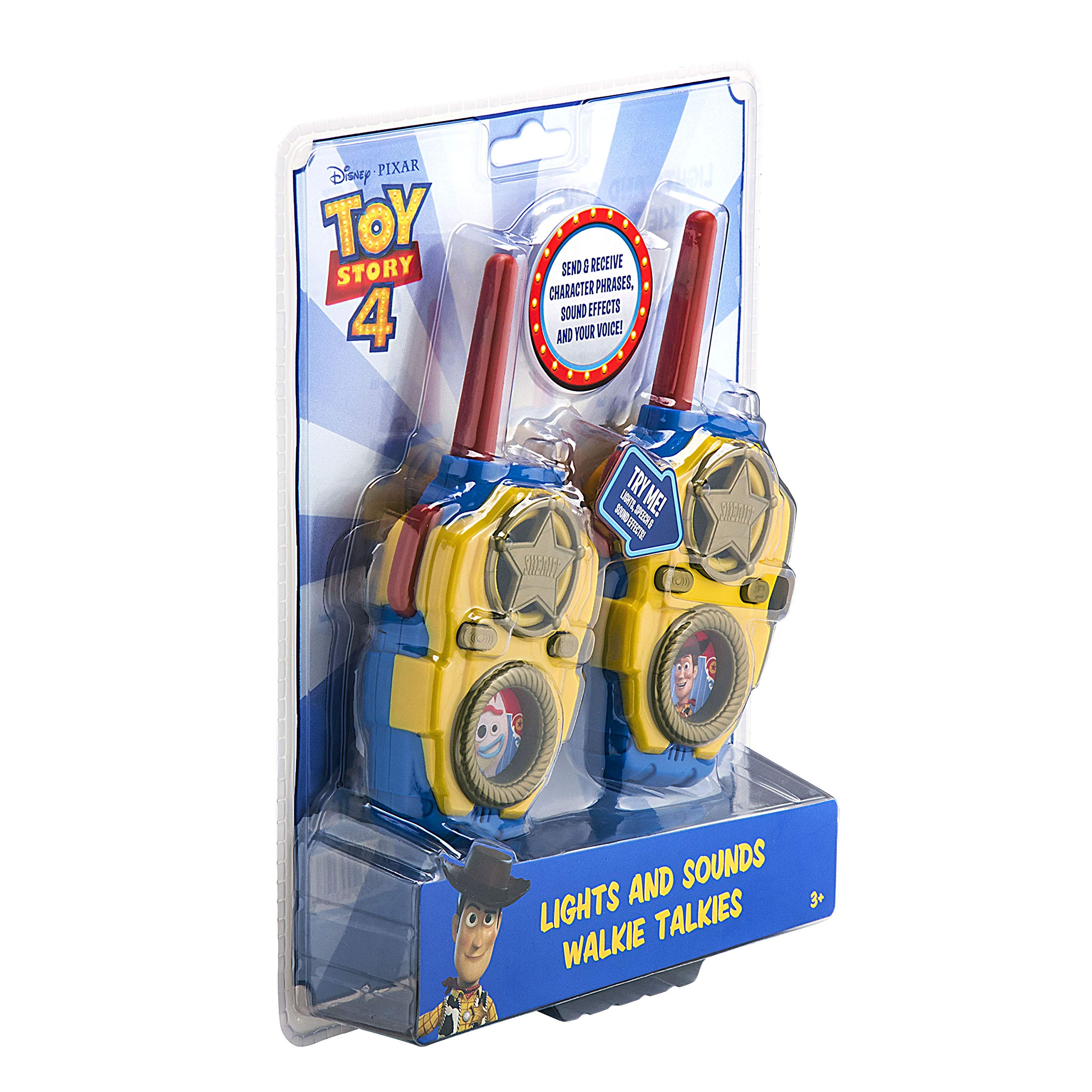 eKids Toy Story 4 FRS Walkie Talkies with Lights and Sounds Kid Friendly Easy to Use by eKids (Image #8)