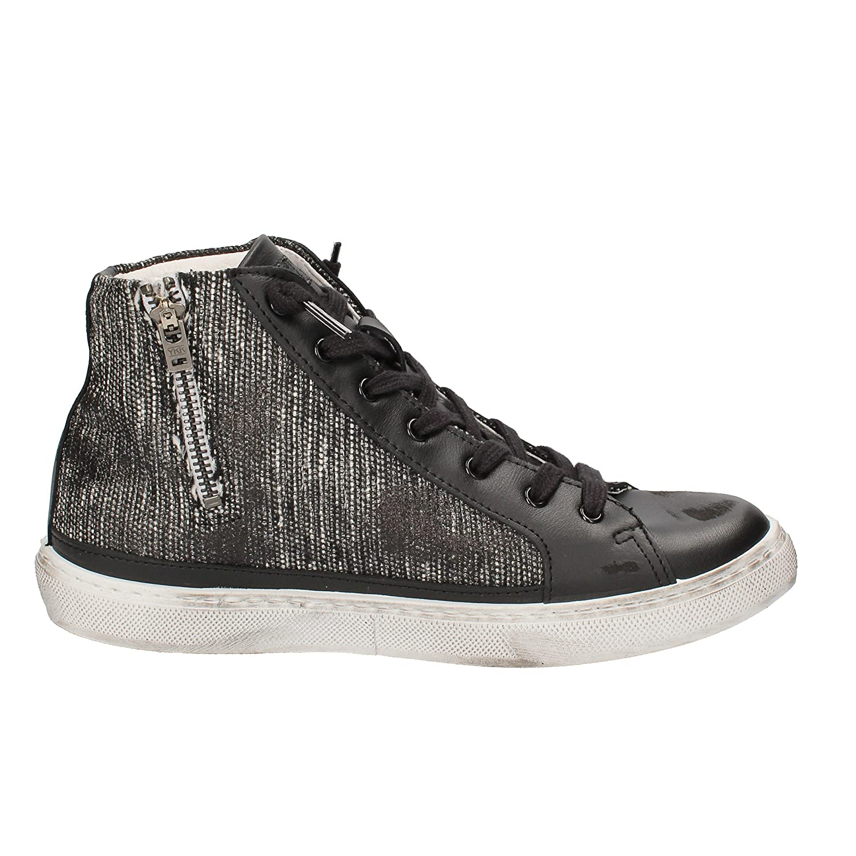 Amazon.com | 2 STAR Mens Fashion Sneakers Black Leather Textile AD434 (11 US  / 44 EU) | Fashion Sneakers