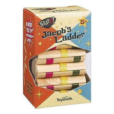 Toysmith Neato! Classics Jacob's Ladder Retro Wooden Puzzle Toy, 6195: Toysmith: Toys & Games