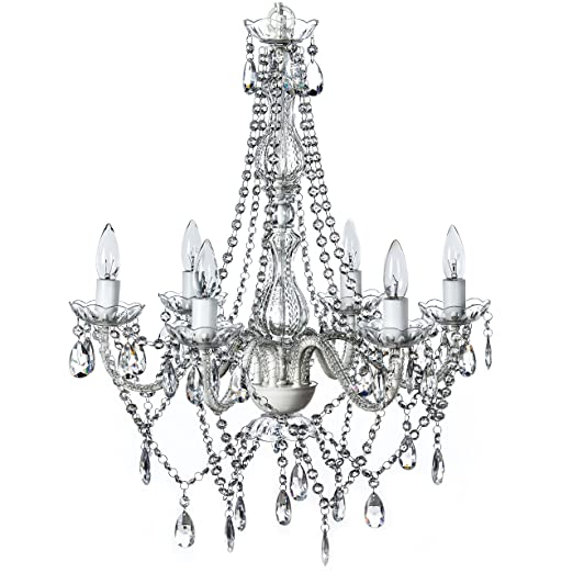The Original Gypsy Color 6 Light Large Crystal Chandelier H26 W22