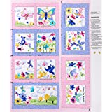 Quality Premium Cotton Quilt Fabric Pink Sold in 14 Yd Increments Cute! SPECIALTY: FLUTTERING BUTTERFLIES on Pink Teal Purple S100