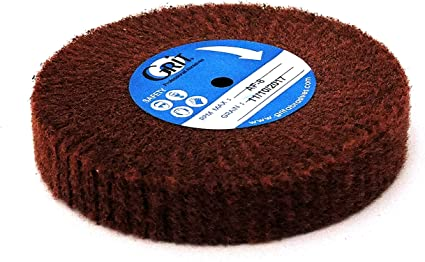 Satin Finish Buff Polishing Wheel 4 1//2 by 3//4 Inch Red Fine