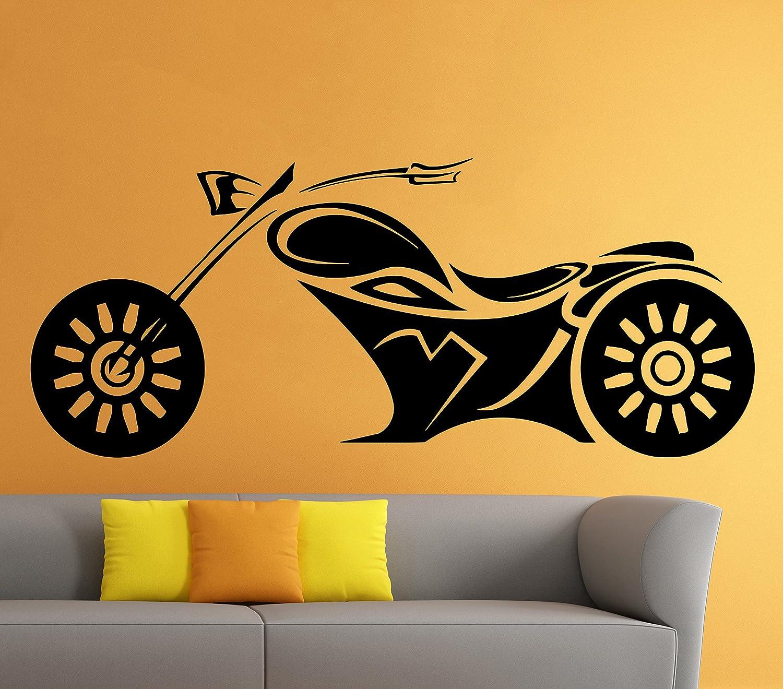 Motorbike Wall Stickers Motor Motorcycle Vinyl Decals Engine Art ...