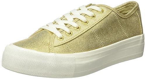 Springfield 5.G.Flatf.Canvas metaliza, Zapatillas para Mujer, Beige (Ivory), 38 EU: Amazon.es: Zapatos y complementos