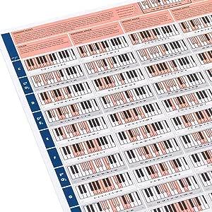 The Really Useful Piano Poster - Aprende Piano, Teoría Musical y Composición con nuestra Tabla de Escalas, Acordes y Círculo de Quintas para Piano ilustrada - Tamaño A1 - Versión Enrollada: Amazon.es: