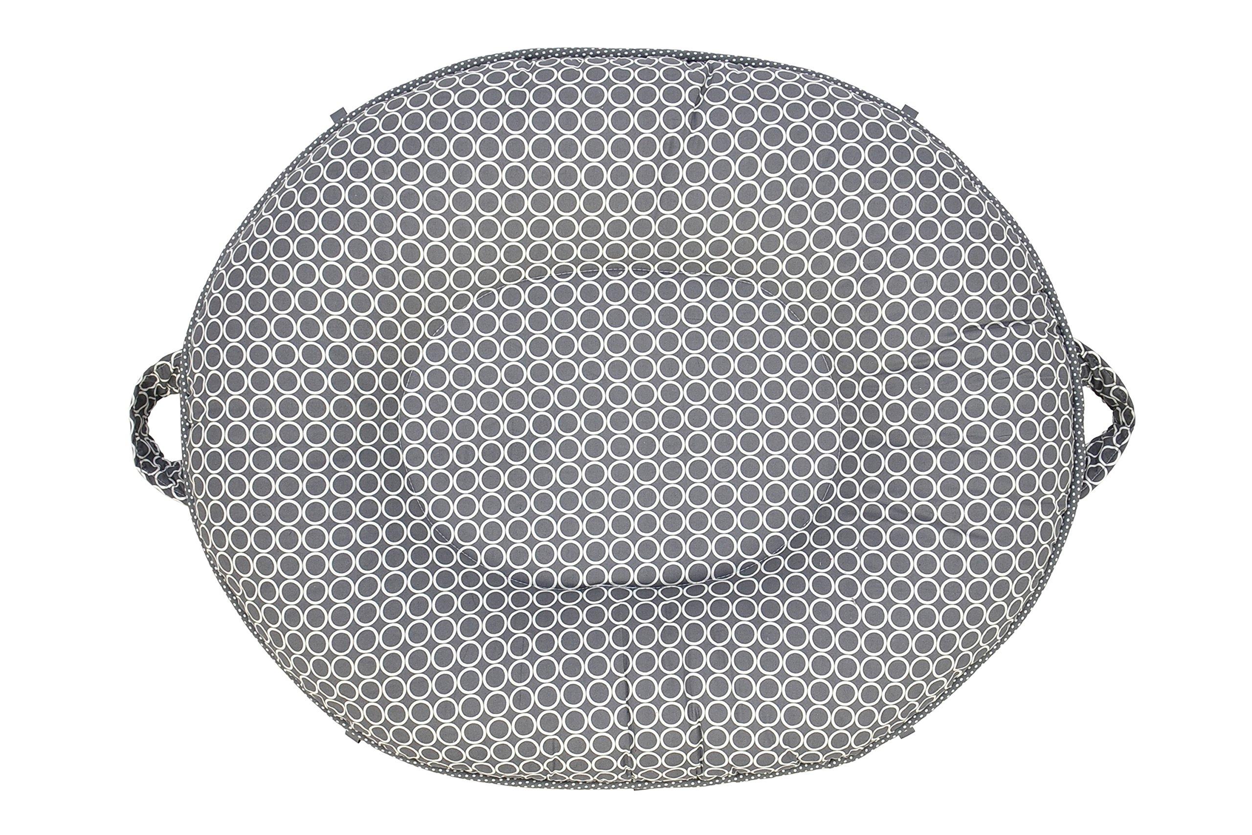 Premium Luxe Oval Floor Pillow - Majestic/Light Pink