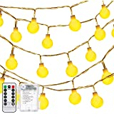 Amazon Price History for:Globe String Lights, Decornova 13 feet 30 LEDs IP44 Waterproof 8 Modes Outdoor LED Fairy String Lights with 3AA Battery Box and Remote Controller, Warm White