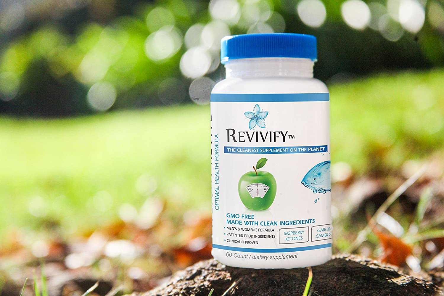 Revivify Organic GMO-Free Weight Revive and Weight Loss Aid with Garcinia Cambogia, Ketones, Green Coffee, Green Tea and More. Gluten Free and Ultraformulated Nutrition and Support – 60 Count
