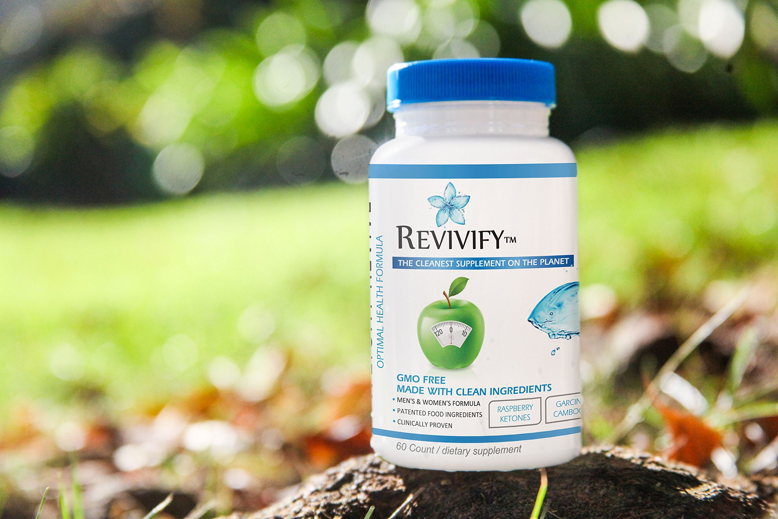 Revivify Organic GMO-Free Weight Revive and Weight Loss Aid with Garcinia Cambogia, Ketones, Green Coffee, Green Tea and more. Gluten Free and Ultraformulated Nutrition and Support - 60 count
