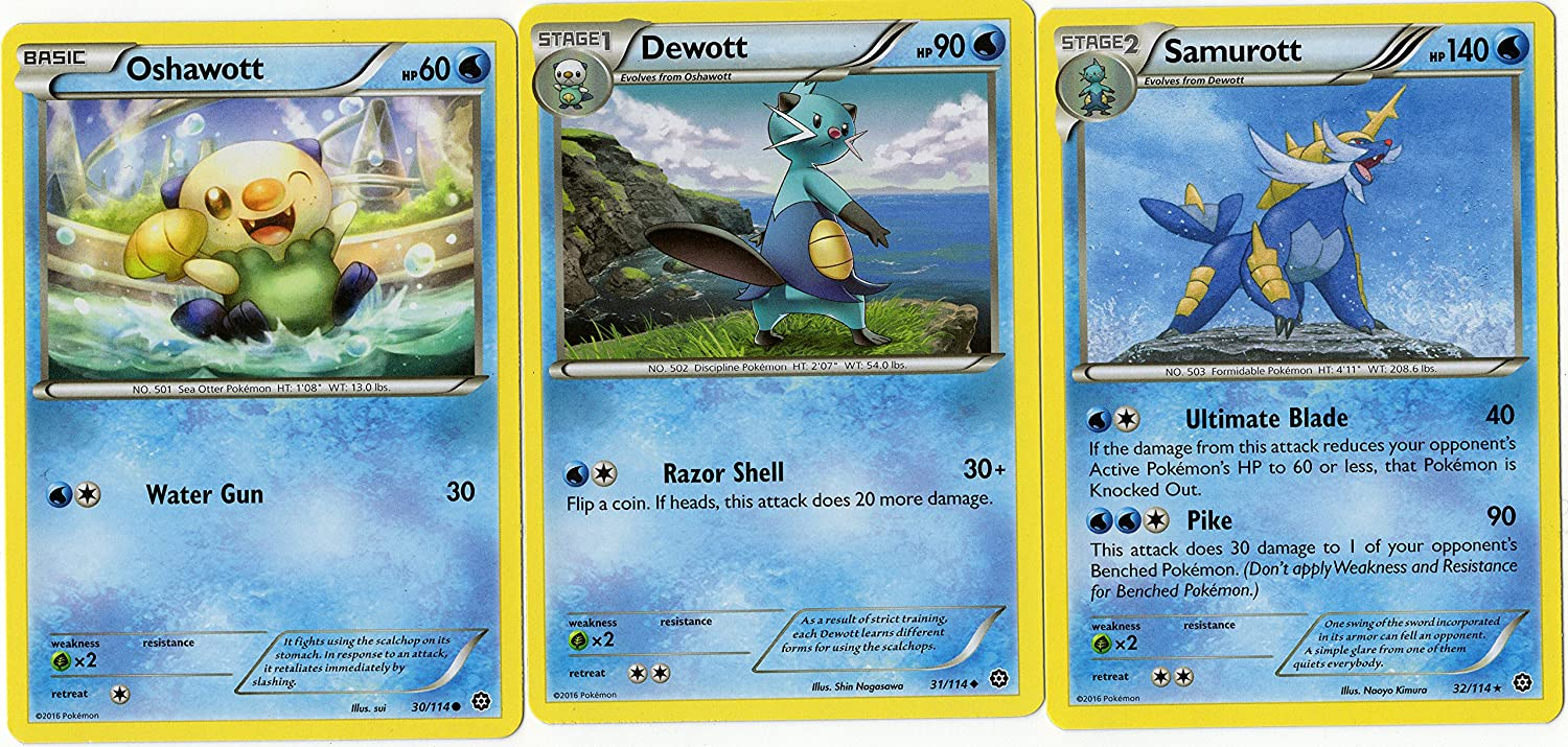 Amazon.com: Evolution Set - SAMUROTT DEWOTT Oshawott - Steam ...