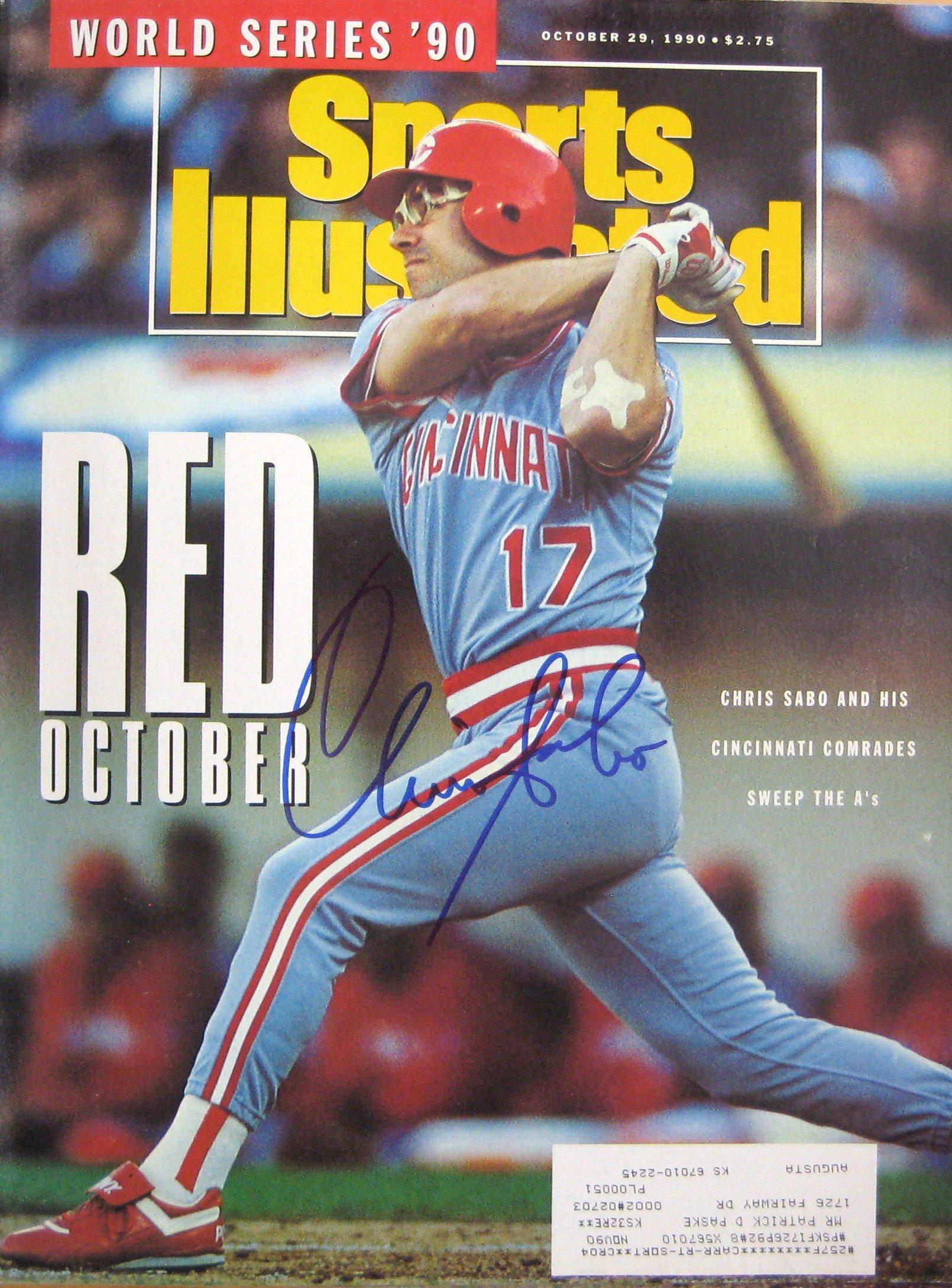 Sabo, Chris 10/29/90 autographed magazine