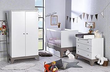 Alfred & Compagnie - Chambre bébé essentielle Elvi blanc/lin: Amazon ...