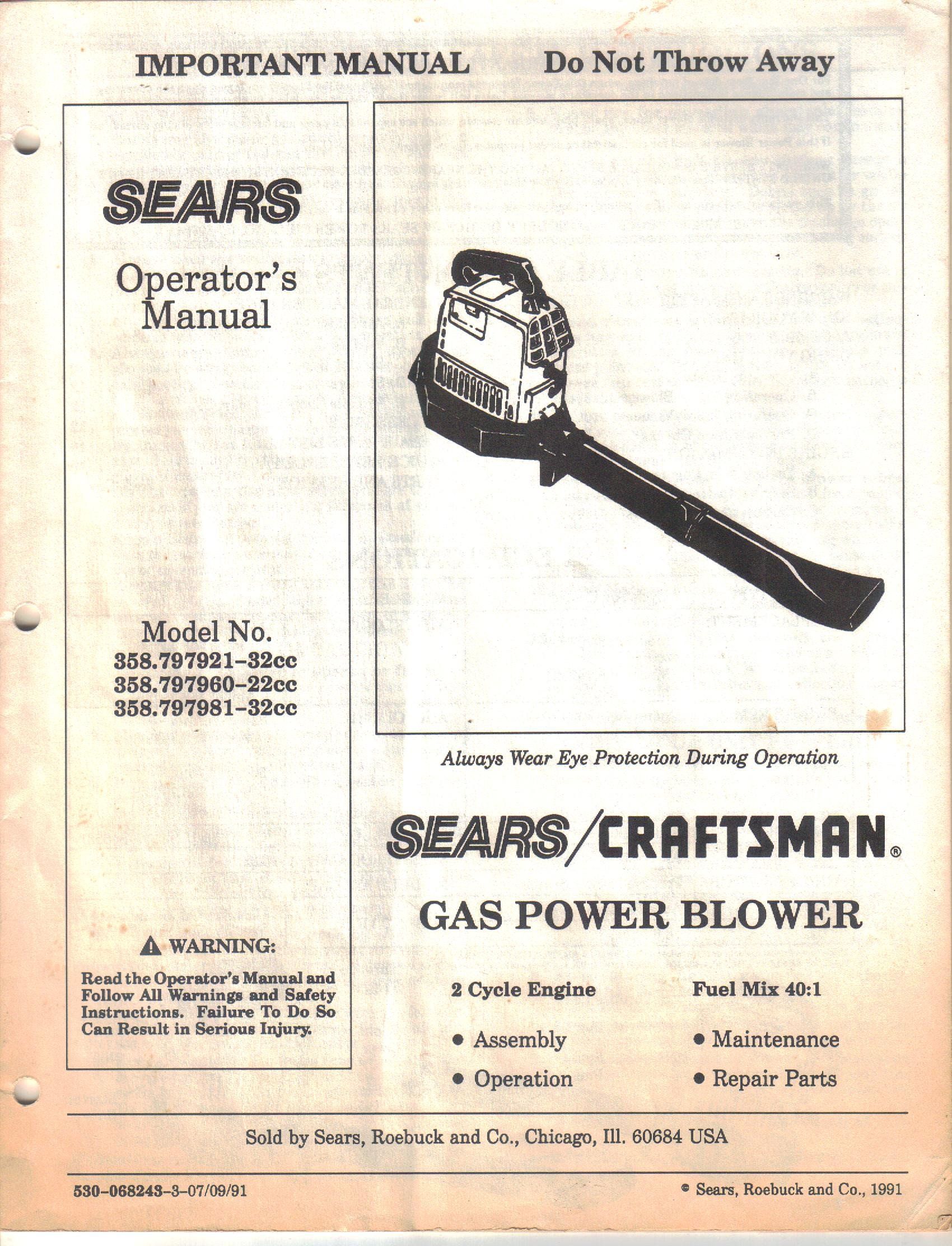 sears owner manual craftsman import