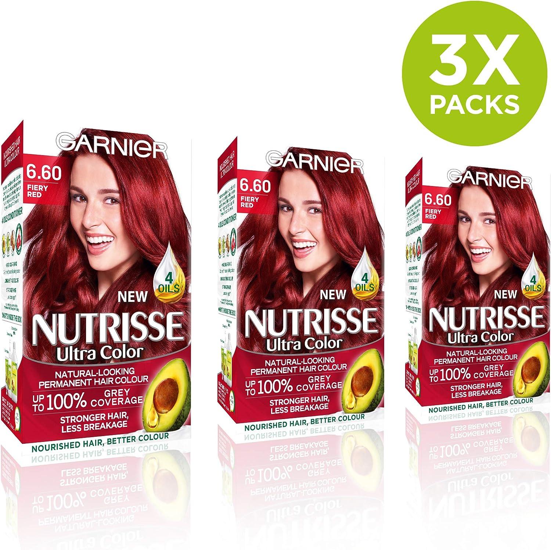 Garnier Nutrisse 6.6 - Tinte para el cabello permanente, Red ...