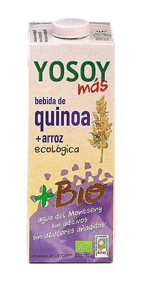 YOSOY Ecologico Bebida de Quinoa con Arroz Ecologica 1L [caja de 6 x 1L]