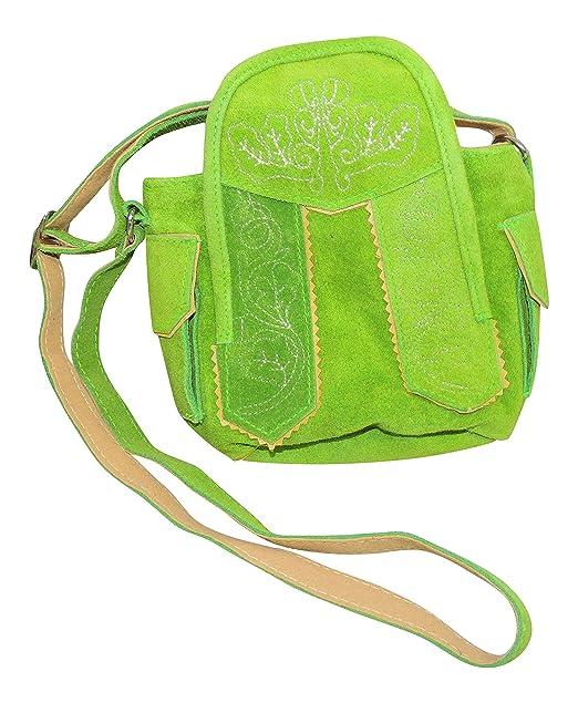 Ms Trachten Kleine Dirndltasche Handtasche Ledertasche Lind Rau